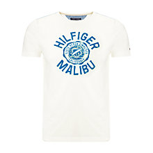 Buy Tommy Hilfiger Brad Logo Short Sleeve T-Shirt, Snow White Online at johnlewis.com
