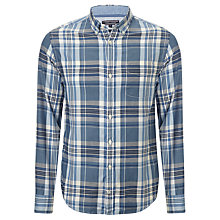 Buy Tommy Hilfiger Newland Check Long Sleeve Shirt, Blue Online at johnlewis.com
