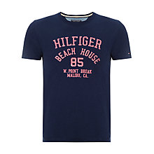 Buy Tommy Hilfiger Beach House Logo T-Shirt, Cloud Heather Online at johnlewis.com
