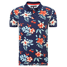 Buy Tommy Hilfiger Reese Tropical Flower Polo Shirt, Deep Sapphire Online at johnlewis.com