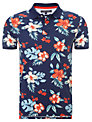 Tommy Hilfiger Reese Tropical Flower Polo Shirt, Deep Sapphire