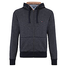 Buy Tommy Hilfiger Full Zip Hoodie, Navy Blazer Heather Online at johnlewis.com