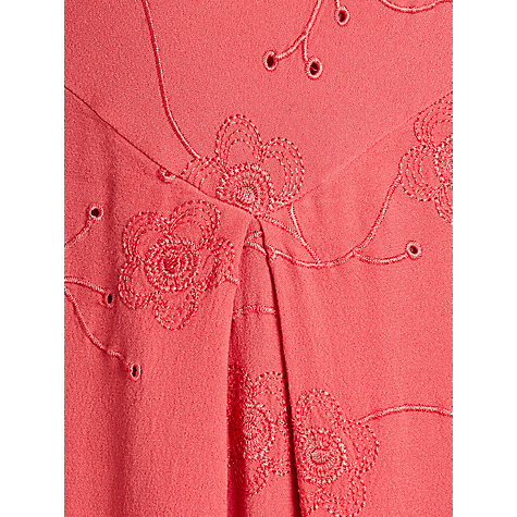 Buy Ghost Daisy Embroidered Dress, Geranium Online at johnlewis.com