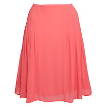 Buy Ghost Genna Pleat Skirt, Geranium Online at johnlewis.com