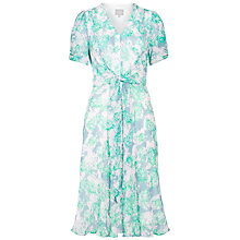 Buy Ghost Katie Tie-Front Dress, Hibiscus Meadow Online at johnlewis.com
