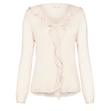 Buy Ghost Esme Ruffle Blouse, Oyster Online at johnlewis.com