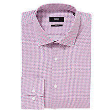 Buy BOSS Jenno Geo Print Shirt, Pink Online at johnlewis.com