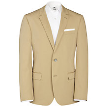 Buy BOSS Hutsons Cotton Blazer, Beige Online at johnlewis.com