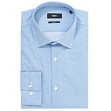 Buy BOSS Jenno Geo Print Shirt, Blue Online at johnlewis.com