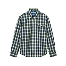 Buy Gant Boys' Check Shirt, Navy/Yellow Online at johnlewis.com