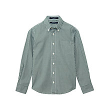 Buy Gant Boys' Gingham Shirt, Green/White Online at johnlewis.com