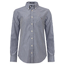 Buy Gant Boys' Banker Long Sleeve Shirt, Cobalt Blue Online at johnlewis.com