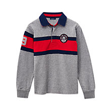 Buy Gant Boys' Colour Block Rugby Shirt, Grey Online at johnlewis.com