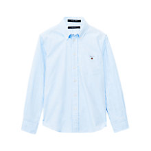 Buy Gant Boys' Pinpoint Oxford Shirt, Light Blue Online at johnlewis.com