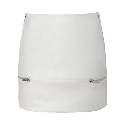Buy True Decadence Leather Look Mini Skirt, White Online at johnlewis.com