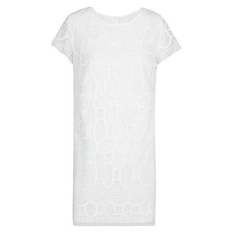 Buy Mango Crochet Shift Dress, Natural White Online at johnlewis.com
