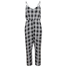 Buy True Decadence Square Print Jumpsuit, Black Square Online at johnlewis.com