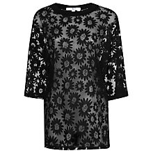 Buy True Decadence Sheer Daisy T-Shirt, Black Daisy Online at johnlewis.com