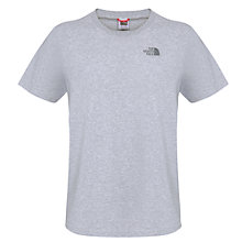 Buy The North Face Dome Biker T-Shirt, Heather Grey Online at johnlewis.com