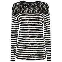 Buy Rise Striped Hannah Top, Black/White Online at johnlewis.com