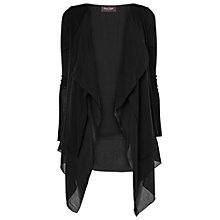 Buy Phase Eight Montpellier Flora Frill Cardigan, Black Online at johnlewis.com