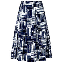 Buy Phase Eight Deauville-Collection Angela Print Skirt, Navy/Ivory Online at johnlewis.com