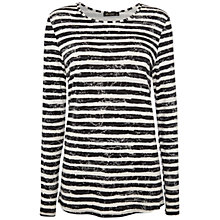 Buy Rise Round Neck Mia Top, Black/White Online at johnlewis.com