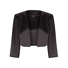 Buy Alexon Sateen Bolero, Black Online at johnlewis.com