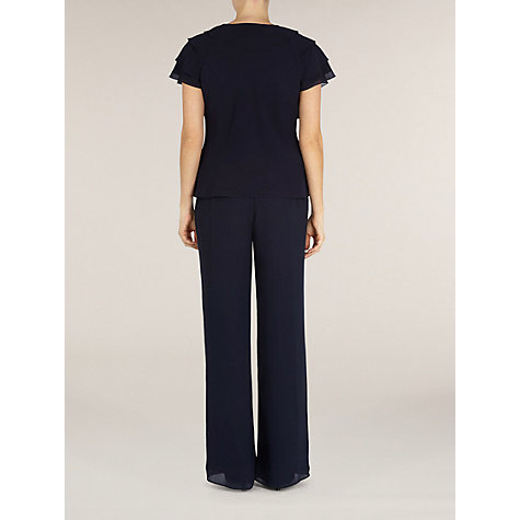 Buy Jacques Vert Navy Frill Blouse, Blue Online at johnlewis.com