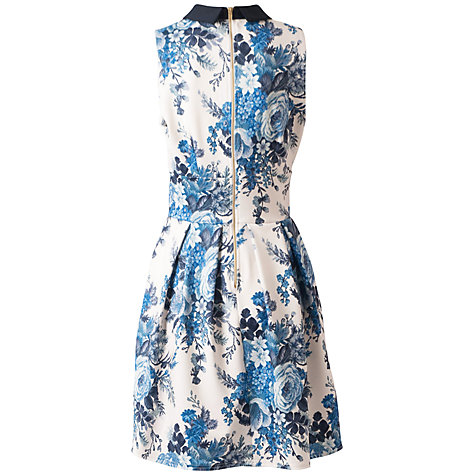 Buy Closet Tapestry Print Collar Dress, Blue Print Online at johnlewis.com