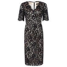 Buy Alexon Draped Lace Dress, Black Online at johnlewis.com