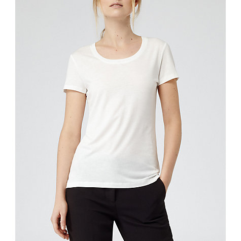 Buy Reiss Daina Basic Contrast Neck T-shirt Online at johnlewis.com