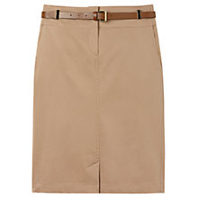 Buy Gérard Darel Belted Skirt, Taupe Online at johnlewis.com