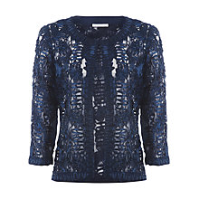 Buy Jacques Vert Cornelli Tape Jacket, Blue Online at johnlewis.com