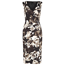 Buy Alexon Printed Floral Dress, Black Online at johnlewis.com