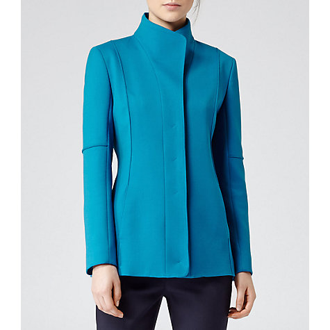 Buy Reiss Verona Slim Fit Jacket, Turkish Blue Online at johnlewis.com