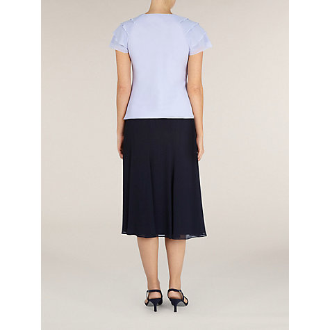 Buy Jacques Vert Frill Blouse, Purple Online at johnlewis.com