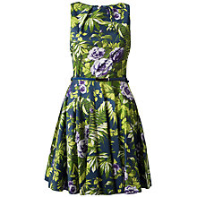 Buy Closet Tropical Flared Dress, Green Online at johnlewis.com