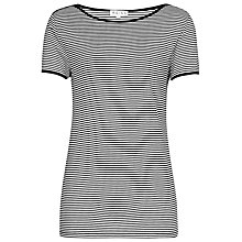 Buy Reiss Striped Joon T-Shirt, Black/White Online at johnlewis.com