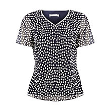 Buy Jacques Vert Square Print Blouse, Blue Online at johnlewis.com