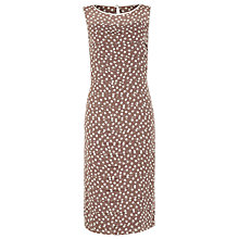 Buy Jacques Vert Spot Layered Shift Dress, Brown Online at johnlewis.com