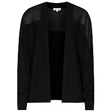 Buy Milna Sheer Contrast Cardigan, Black Online at johnlewis.com