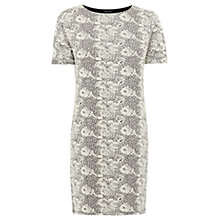 Buy Warehouse Jacquard Tunic Dress, Light Grey Online at johnlewis.com