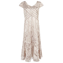 Buy Jacques Vert Banded Burnout Dress, Champagne Online at johnlewis.com