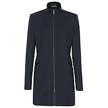Buy Reiss Funnel Neck Calais Coat, Navy Online at johnlewis.com