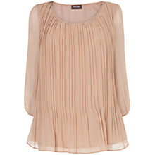 Buy Phase Eight Montpellier Jill Pleated Blouse, Dusty Pink Online at johnlewis.com