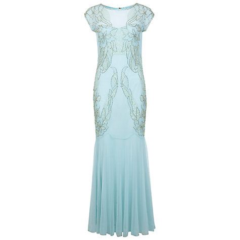 Buy Miss Selfridge Embellished Maxi Dress, Mint Green Online at johnlewis.com