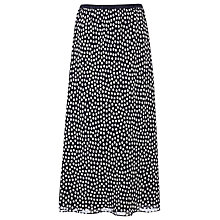 Buy Jacques Vert Square Print Fit & Flare Skirt, Blue Online at johnlewis.com