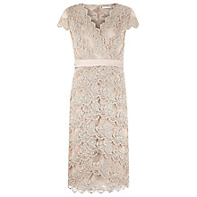 Buy Jacques Vert Champagne Embellished Dress, White Online at johnlewis.com