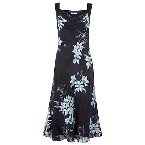 Buy Jacques Vert Burnout Floral Maxi Dress, Blue Online at johnlewis.com
